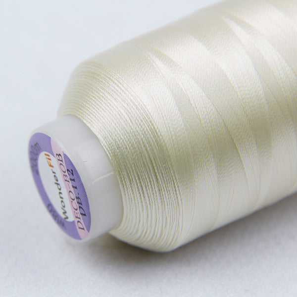 DB112 - DecoBob All Purpose Cotton Polyester Antique White Thread - wonderfil-online-uk