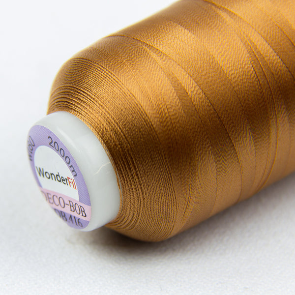 DB416 - DecoBob All Purpose Cotton Polyester Dark Copper Thread - wonderfil-online-uk