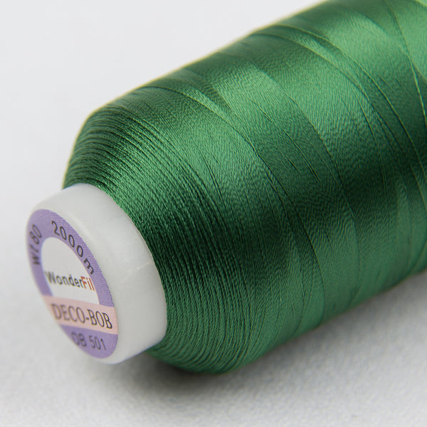 DB501 - DecoBob All Purpose Cotton Polyester Evergreen Thread - wonderfil-online-uk