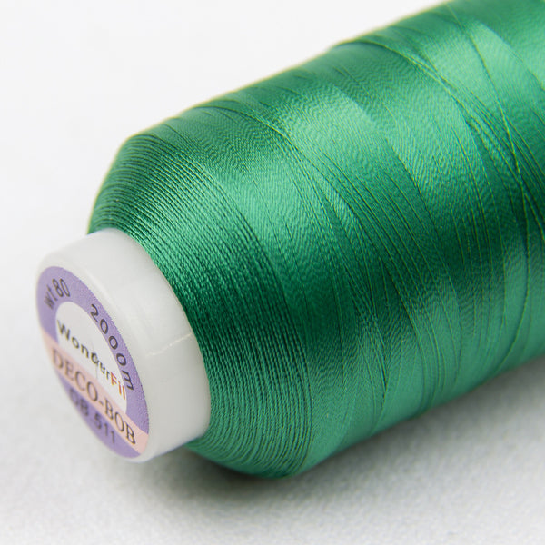 DB511 - DecoBob All Purpose Cotton Polyester Emerald Green Thread - wonderfil-online-uk