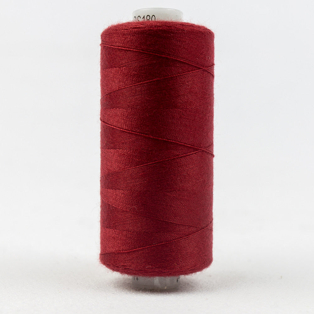 DS180 - 40wt Designer All purpose Polyester Cherry Red Thread - wonderfil-online-uk