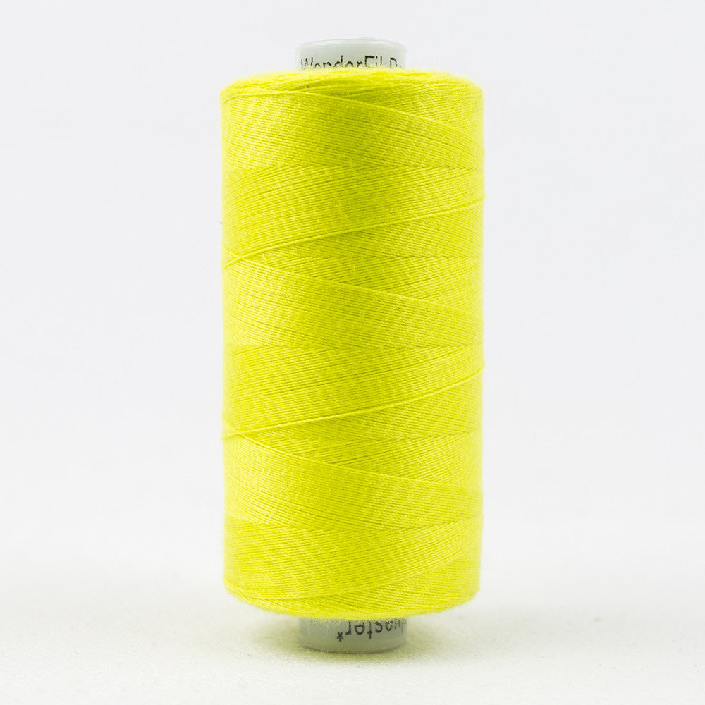 DS822 - Designer 40wt All purpose Polyester Chartreuse Yellow Thread - wonderfil-online-uk