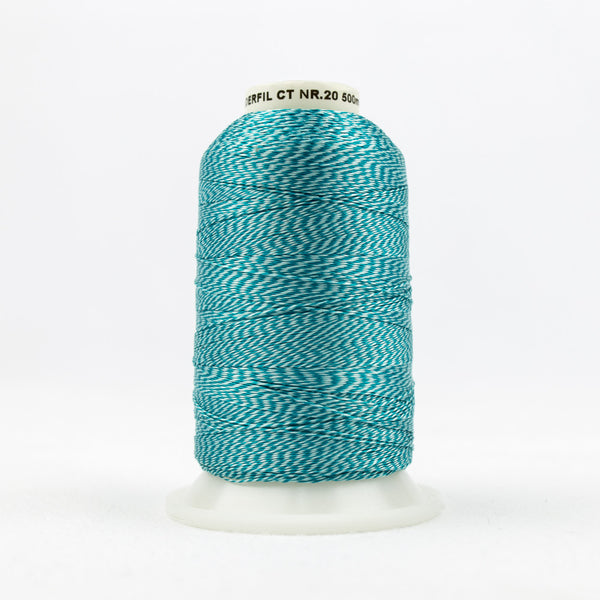 DT9005 -  20wt Rayon Turquoise Thread - wonderfil-online-uk