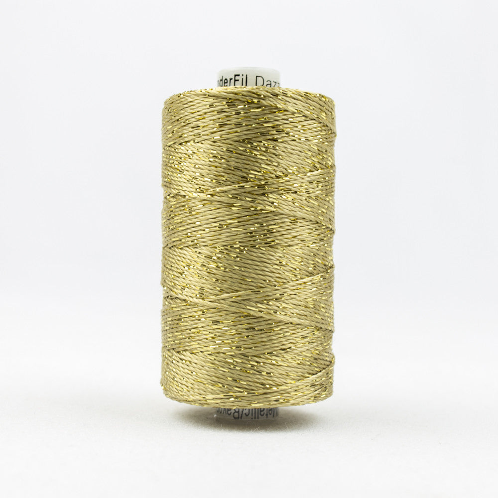 DZ1000 - 8wt Rayon and Metallic Gold Thread - wonderfil-online-uk