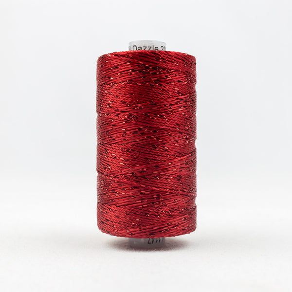 DZ1147 - 8wt Rayon and Metallic Chirstmas Red Thread - wonderfil-online-uk