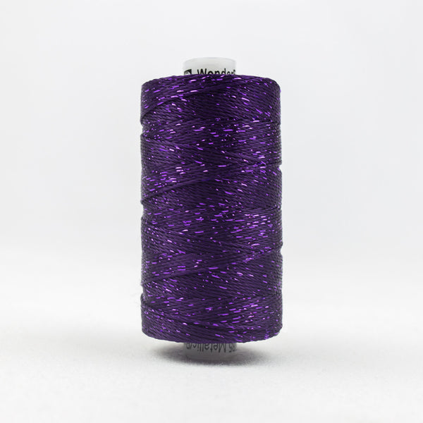 DZ124 - 8wt Rayon and Metallic Purple Thread - wonderfil-online-uk