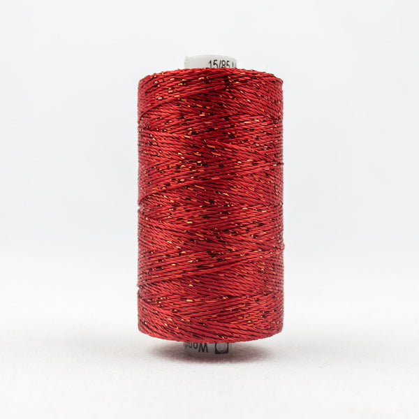 DZ1267 - 8wt Rayon and Metallic Tomato Red Thread - wonderfil-online-uk