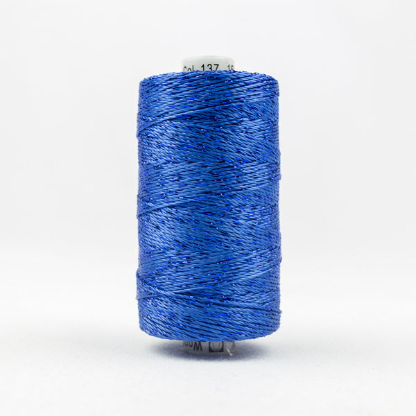 DZ137 - 8wt Rayon and Metallic True Blue Thread - wonderfil-online-uk