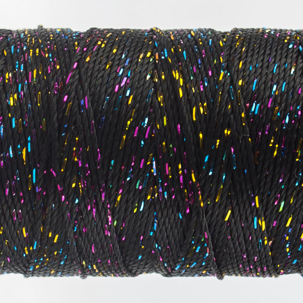 DZ160 - 8wt Rayon and Metallic Black Multicolor Thread - wonderfil-online-uk