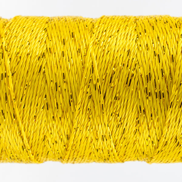DZ2118 - 8wt Rayon and Metallic Sunny Yellow Thread - wonderfil-online-uk
