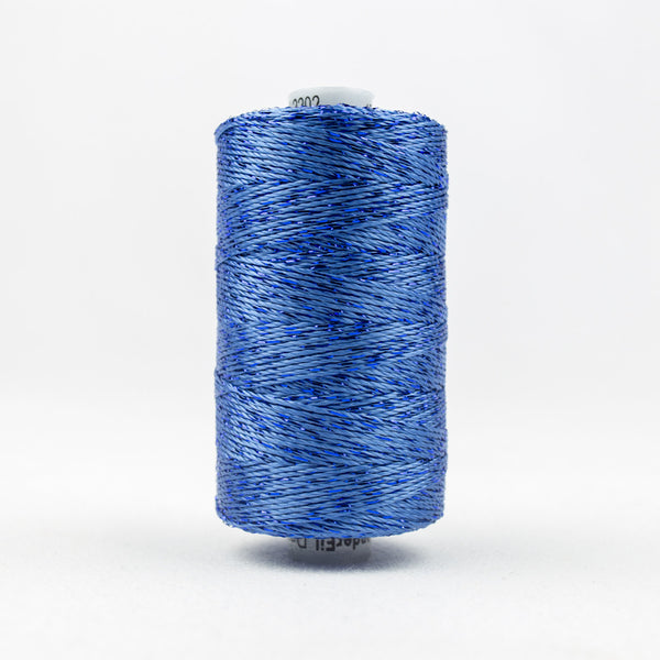 DZ2202 - 8wt Rayon and Metallic Baltic Blue Thread - wonderfil-online-uk