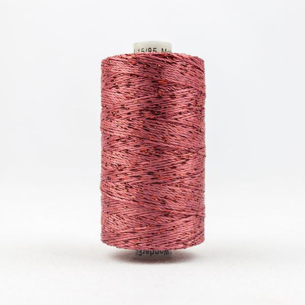 DZ2514 - 8wt Rayon and Metallic Coral Rose Thread - wonderfil-online-uk