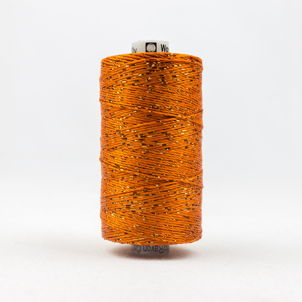 DZ27 - 8wt Rayon and Metallic Orange Thread - wonderfil-online-uk