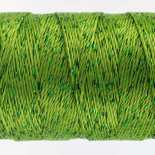DZ280 - 8wt Rayon and Metallic Grass Green Thread - wonderfil-online-uk