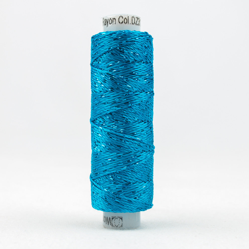 SSDZ3132 - Dazzle 8wt Rayon Metallic Blue Danube Thread - wonderfil-online-uk