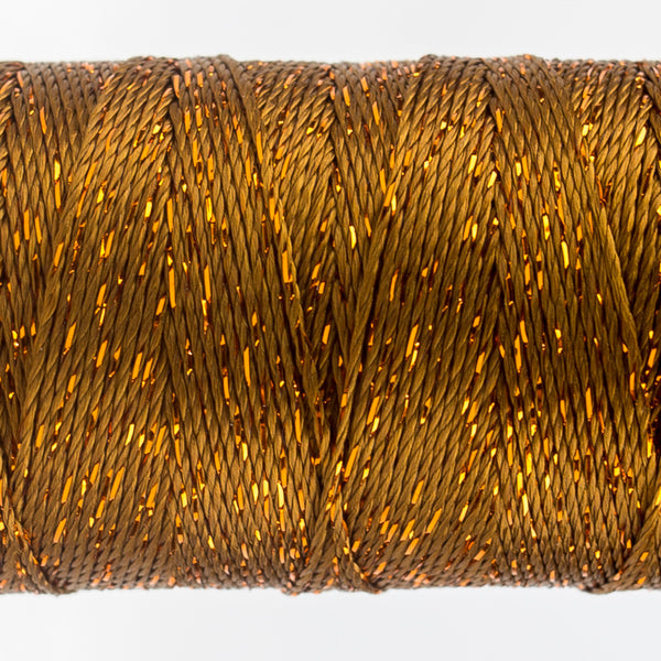 DZ330 - 8wt Rayon and Metallic Acorn Brown Thread - wonderfil-online-uk