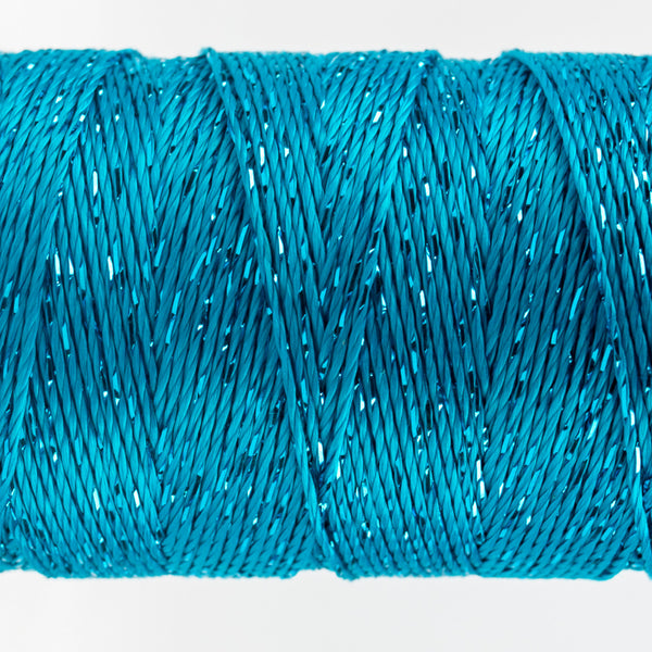 DZ538 - 8wt Rayon and Metallic Dark Turquoise Thread - wonderfil-online-uk