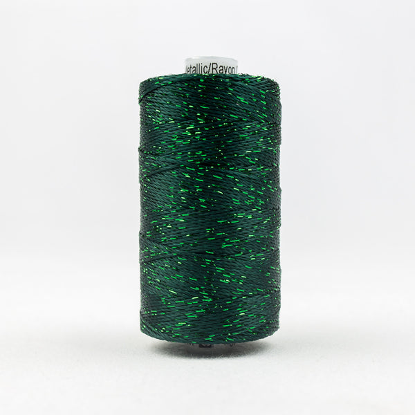 DZ566 - 8wt Rayon and Metallic Forest Green Thread - wonderfil-online-uk