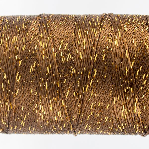 DZ6230 - 8wt Rayon and Metallic Nutmeg Thread - wonderfil-online-uk