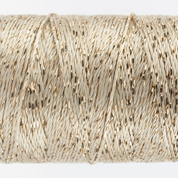 DZ7102 - 8wt Rayon and Metallic Ecru Thread - wonderfil-online-uk