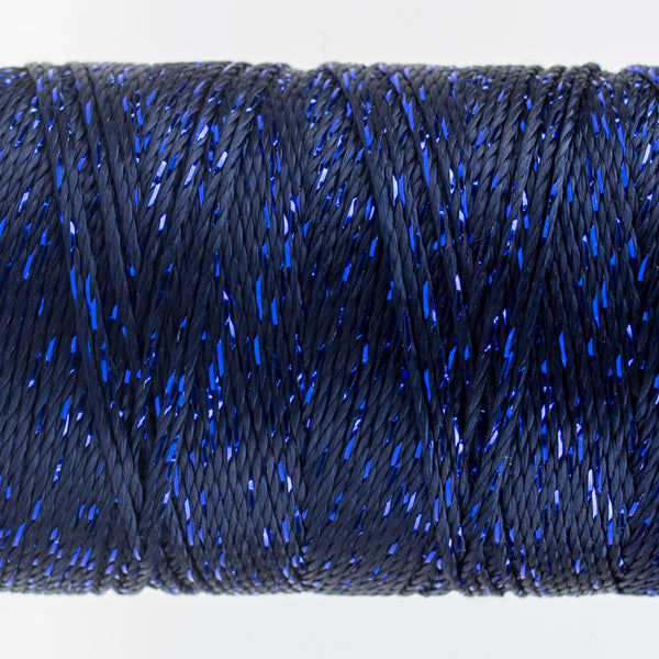 DZ7148 - 8wt Rayon and Metallic Midnight Blue Thread - wonderfil-online-uk