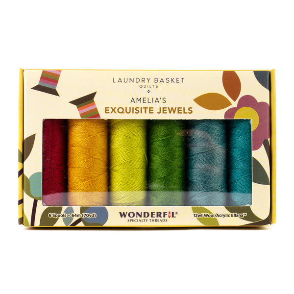 Amelia's Exquisite Jewels by Edyta Sitar - Merino Wool/Acrylic Thread Pack