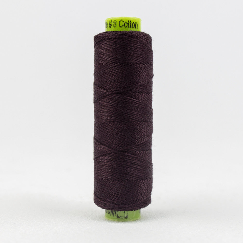 SSEZ808 - Eleganza 8wt Egyptian Cotton Black Berry Thread - wonderfil-online-uk