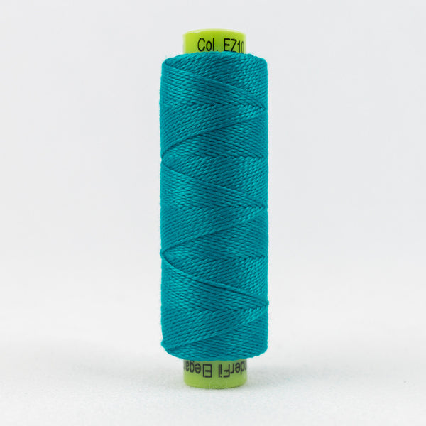 SSEZ810 - Eleganza 8wt Egyptian Cotton Paradise Blue Thread - wonderfil-online-uk