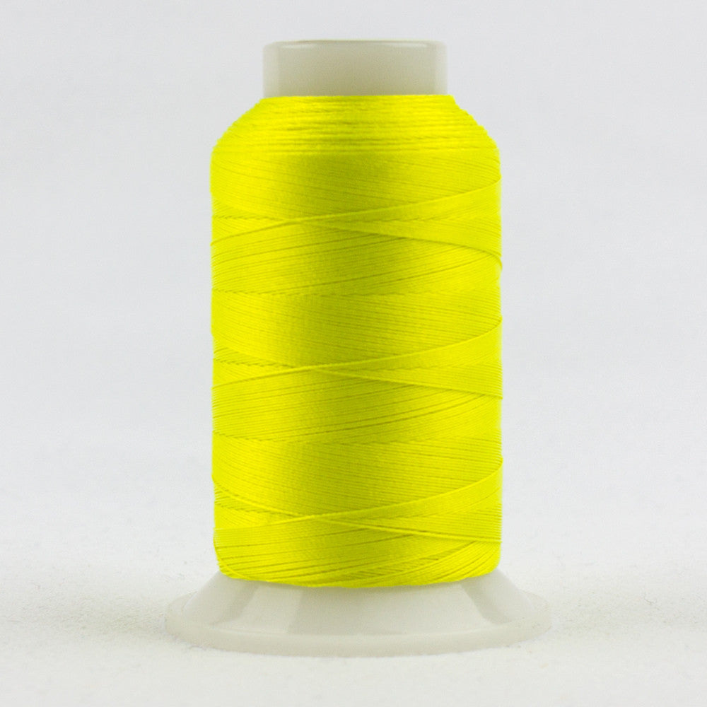 FB01 - Fabulux 40wt Trilobal Polyester Neon Lemon Thread - wonderfil-online-uk
