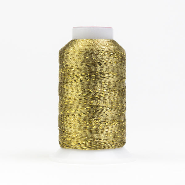 GM1000 -  GlaMore 12wt Rayon and Metallic Gold Thread - wonderfil-online-uk