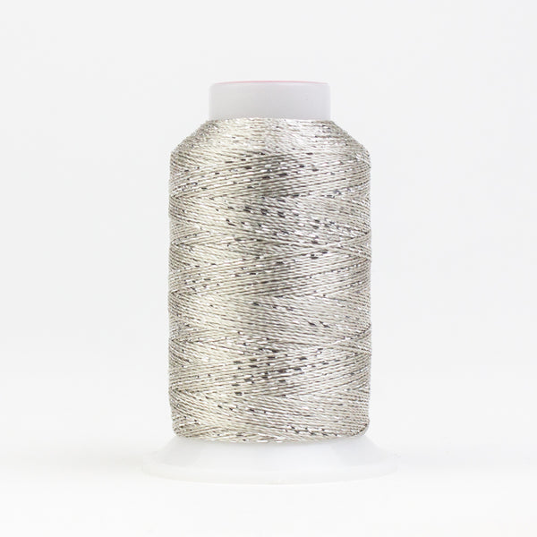 GM2000 -  GlaMore 12wt Rayon and Metallic Silver Thread - wonderfil-online-uk