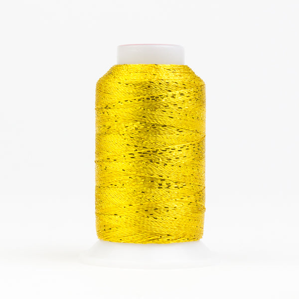 GM2118 -  GlaMore 12wt Rayon and Metallic Sunny Yellow Thread - wonderfil-online-uk