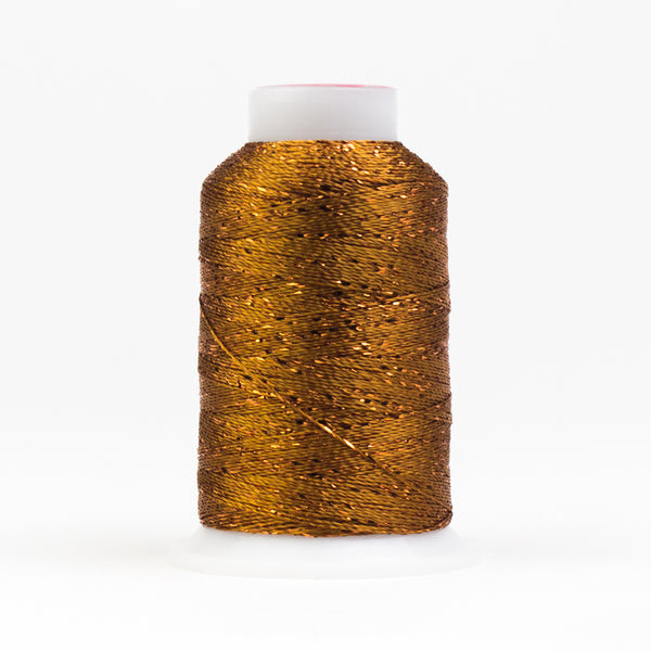 GM328 -  GlaMore 12wt Rayon and Metallic Golden Brown Thread - wonderfil-online-uk