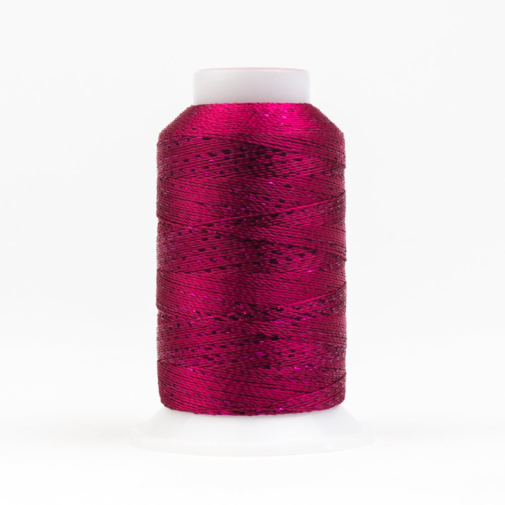 GM45 -  GlaMore 12wt Rayon and Metallic Boysenberry Thread - wonderfil-online-uk