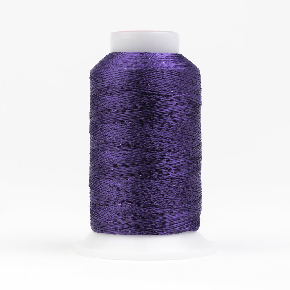 GM5118 -  GlaMore 12wt Rayon and Metallic Prism Violet Thread - wonderfil-online-uk
