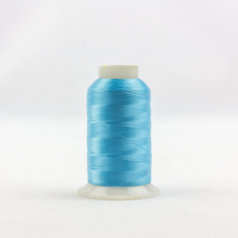 IF716 - InvisaFil 100wt Cotton Polyester Bright Turquoise Thread - wonderfil-online-uk