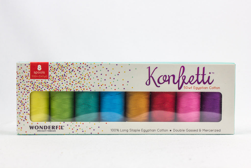 Konfetti™ 50wt Egyptian Cotton Packs - wonderfil-online-uk