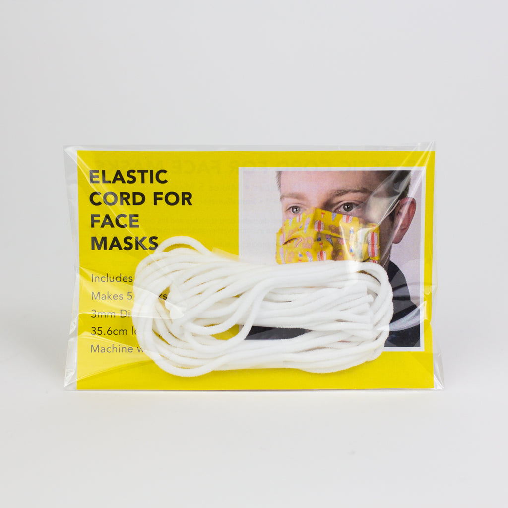 Elastic cord for face masks