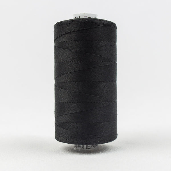 KT200 - Konfetti 50wt Egyptian Cotton Black Thread - wonderfil-online-uk