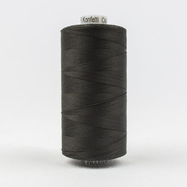 KT201 - Konfetti 50wt Egyptian Cotton Soft Black Thread - wonderfil-online-uk
