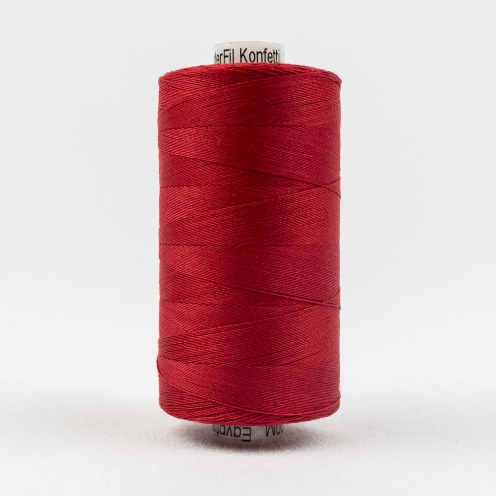 KT302 - Konfetti 50wt Egyptian Cotton Christmas Red Thread - wonderfil-online-uk
