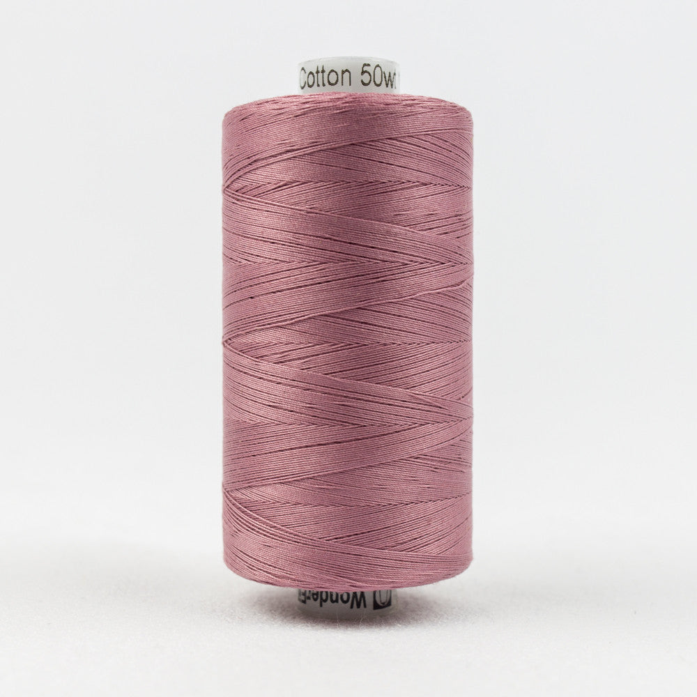 KT307 - Konfetti 50wt Egyptian Cotton Dusty Plum Thread - wonderfil-online-uk