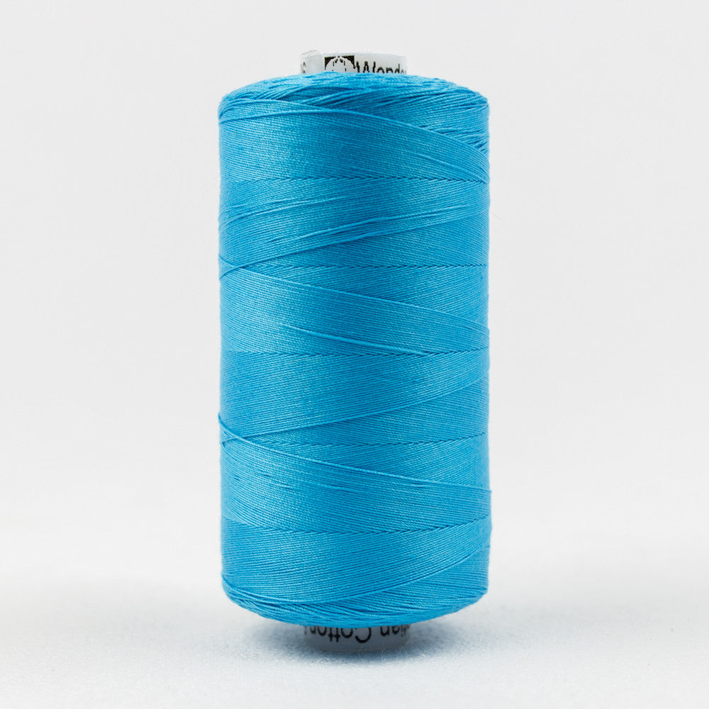 KT606 - Konfetti 50wt Egyptian Cotton Peacock Blue Thread - wonderfil-online-uk