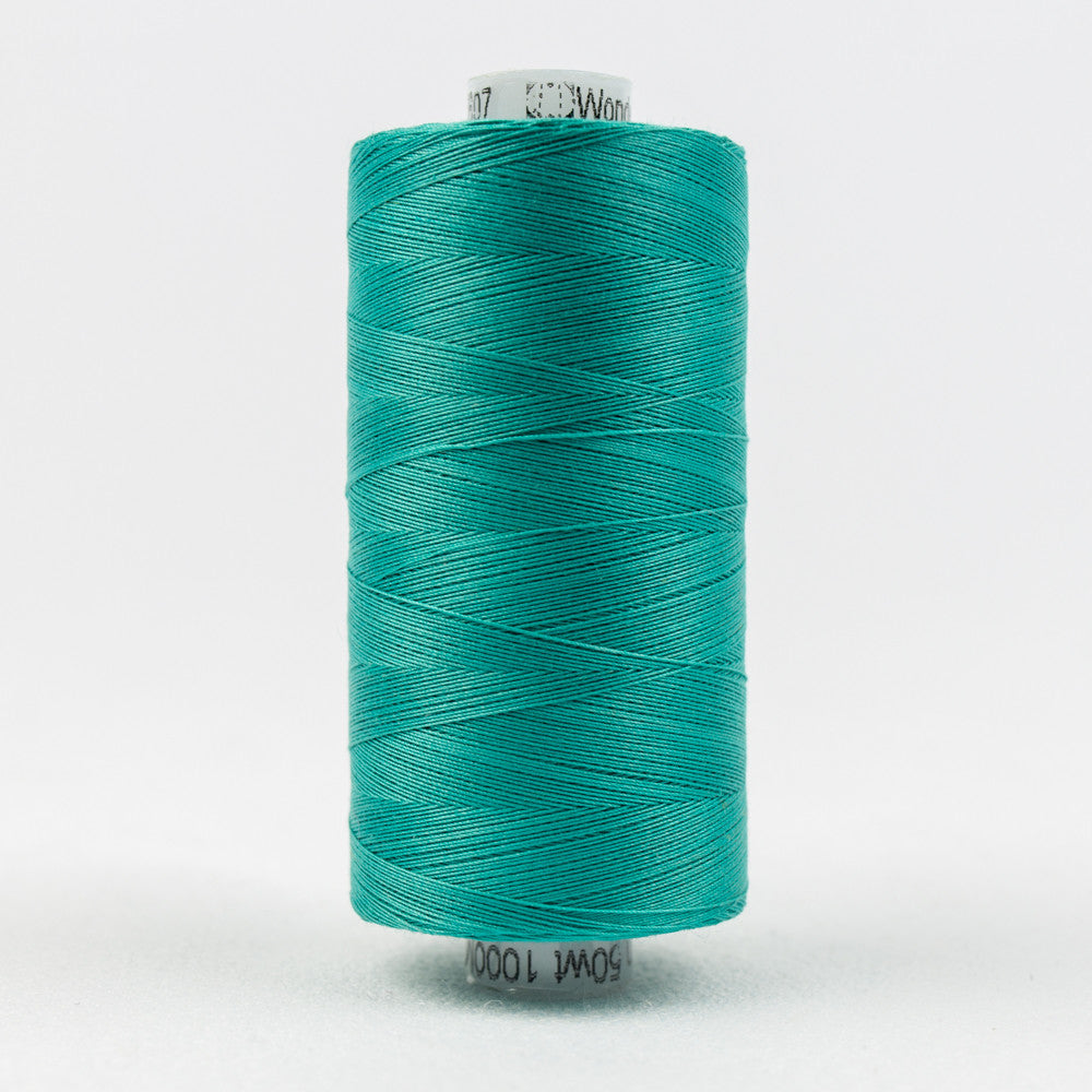 KT607 - Konfetti 50wt Egyptian Cotton Teal Thread - wonderfil-online-uk
