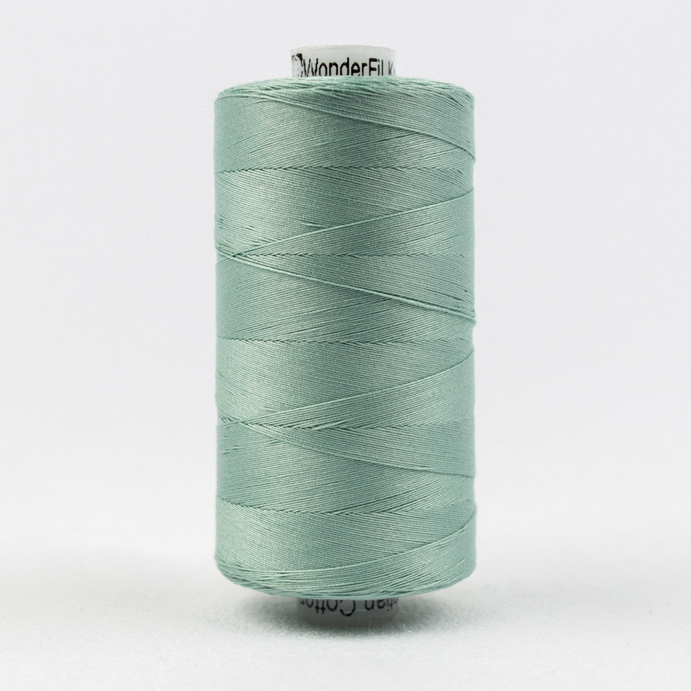 KT610 - Konfetti 50wt Egyptian Cotton Drab Teal Thread - wonderfil-online-uk