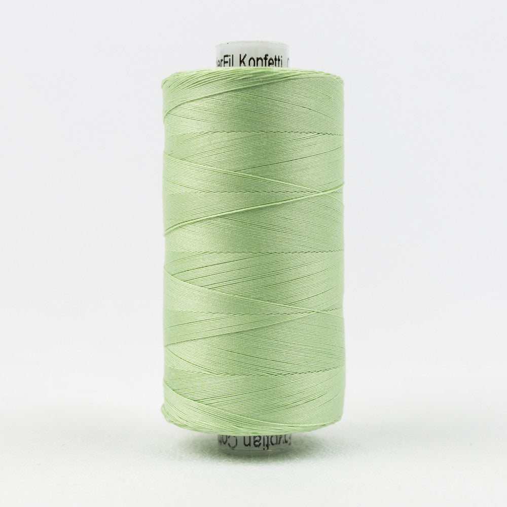 KT706 - Konfetti 50wt Egyptian Cotton Mint Green Thread - wonderfil-online-uk