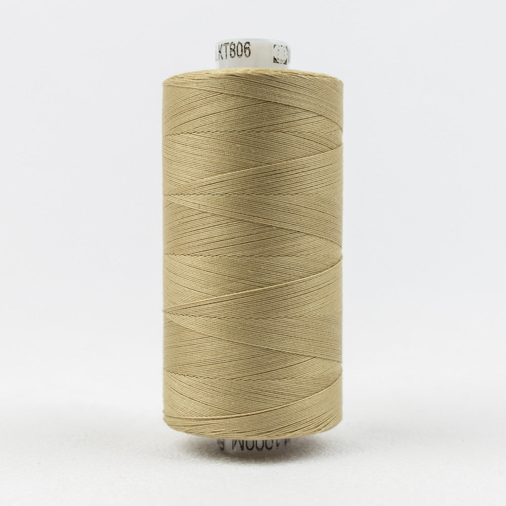 KT806 - Konfetti 50wt Egyptian Cotton Dark Ecru Thread - wonderfil-online-uk