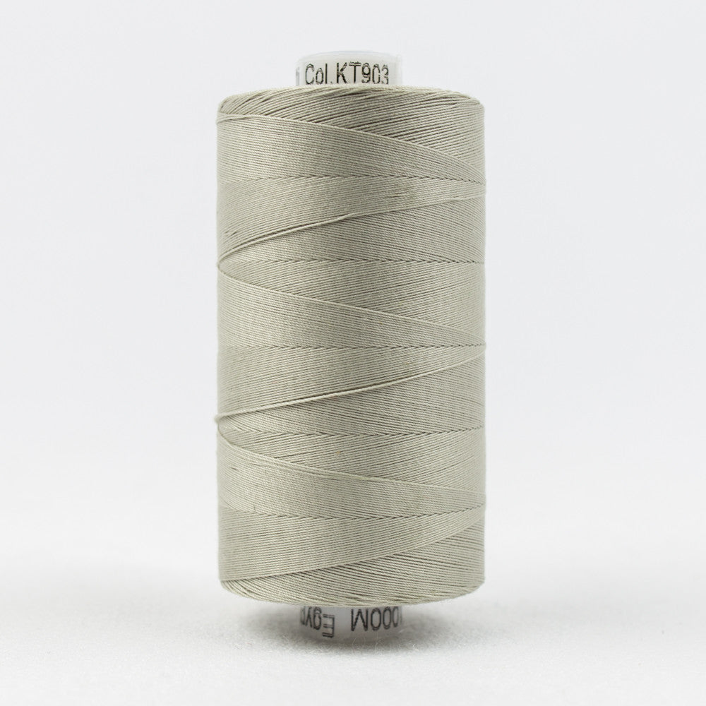 KT903 - Konfetti 50wt Egyptian Cotton Very Light Grey Thread - wonderfil-online-uk