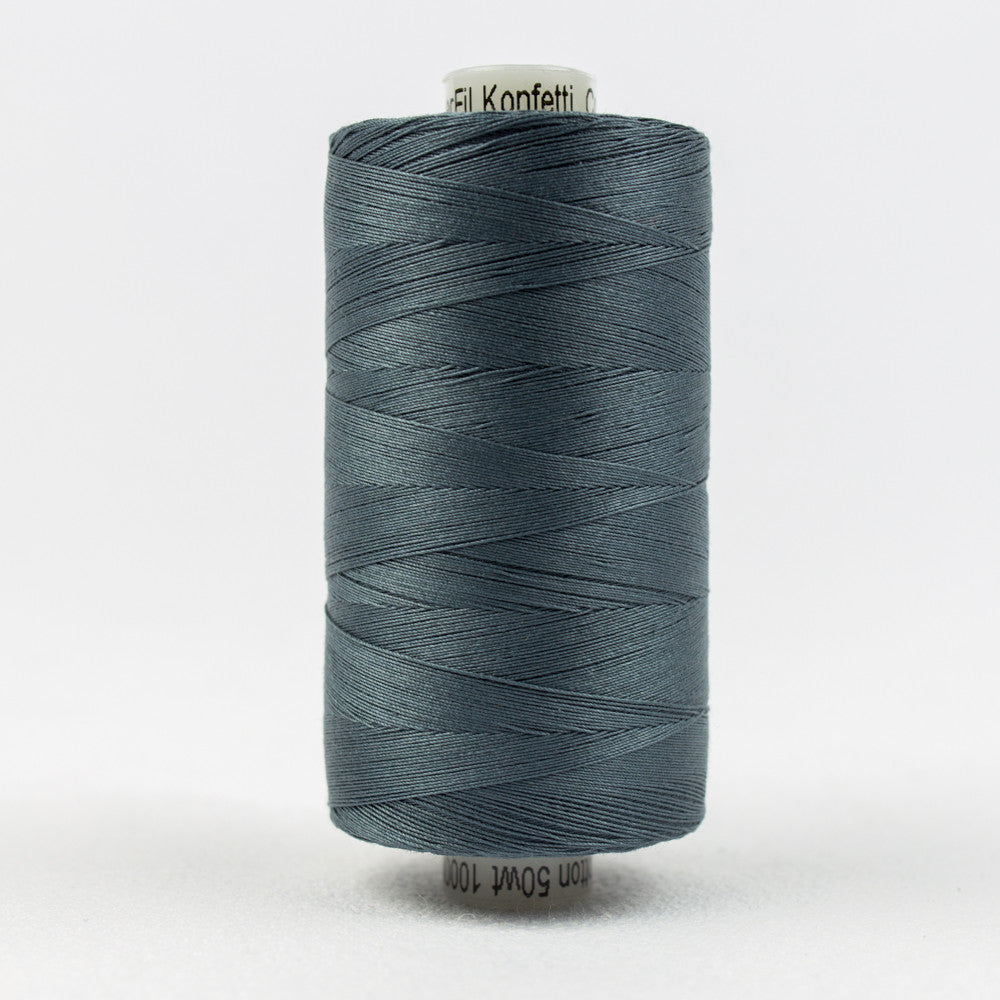 KT904 - Konfetti 50wt Egyptian Cotton Blue Grey Thread - wonderfil-online-uk
