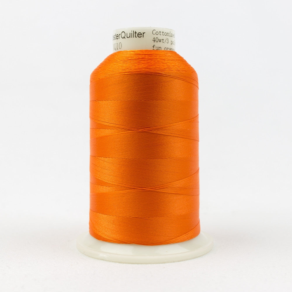 MQ10 - 40wt All Purpose Fun Orange Thread - wonderfil-online-uk